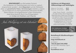 Holzkerzen_WACHSKUNST_Bernadette-Schrenk